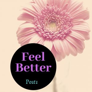 Feel Better Icon, pink flower in sepia background