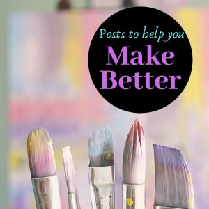Make Better, Icon. Beautiful pastel paint brushes against canvas