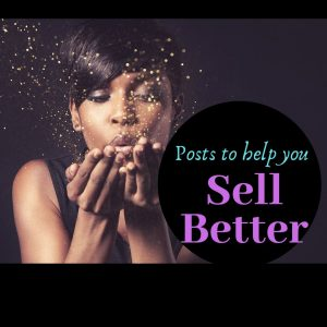 Sell Better, logo image, artist blowing gold fairy dust into the air
