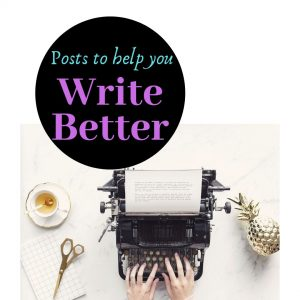 Write Better Logo Image, woman typing on vintage typewriter