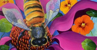 Bee painting for Mistakes Artists Make Post
